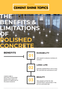Benefits of polished concrete infographic