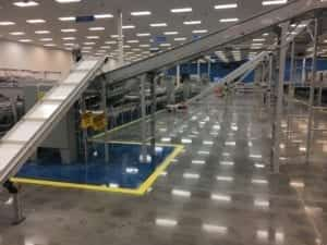 Walmart distribution center concrete floor cement shine project